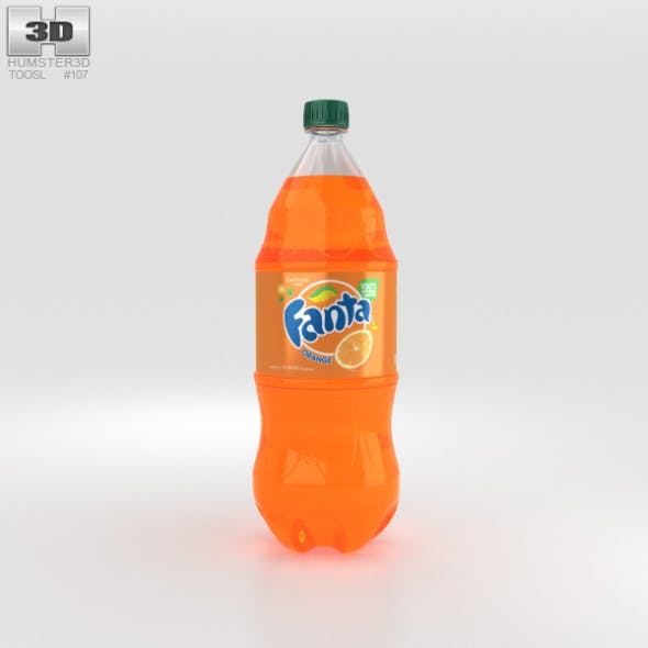 Fanta Bottle 2 Litre - 3DOcean Item for Sale