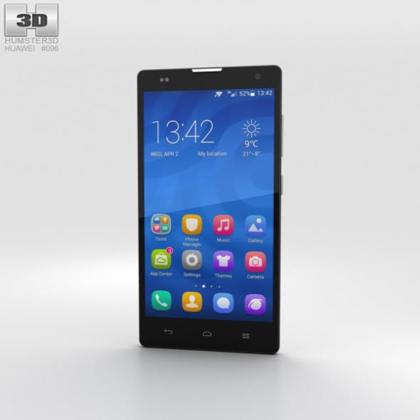 Huawei Honor 3C 4G White - 3DOcean Item for Sale
