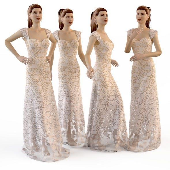 Wedding Evening dress SET