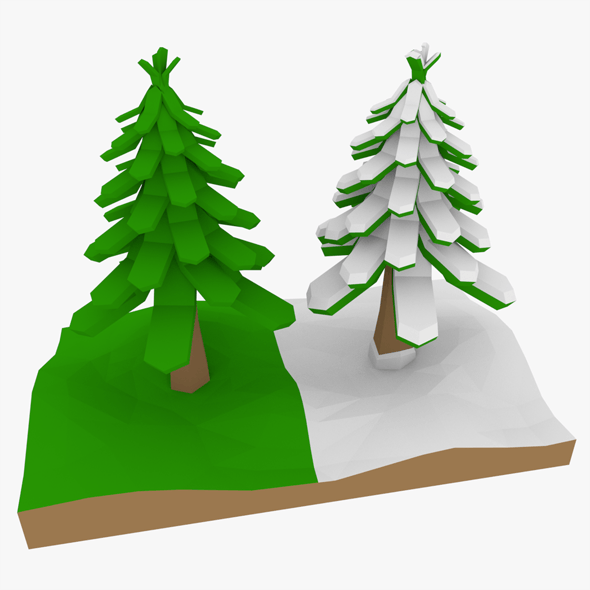 LowPoly Pine Trees