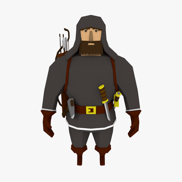 LowPoly Man Character - 3DOcean Item for Sale