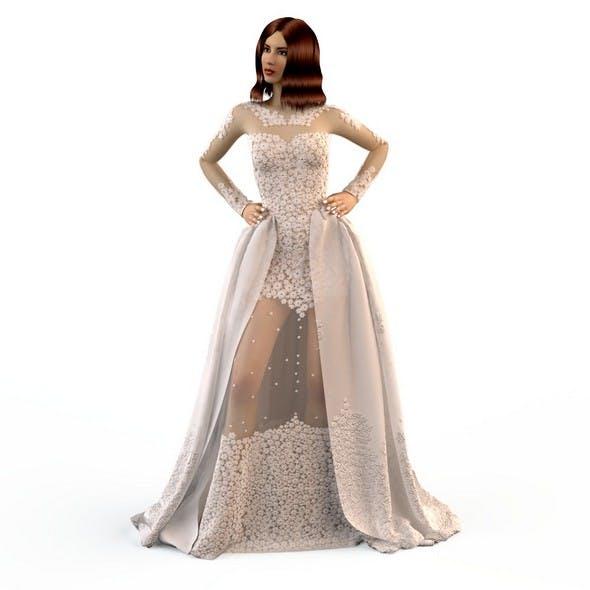 Wedding Evening dress Zuhair Murad - 3DOcean Item for Sale