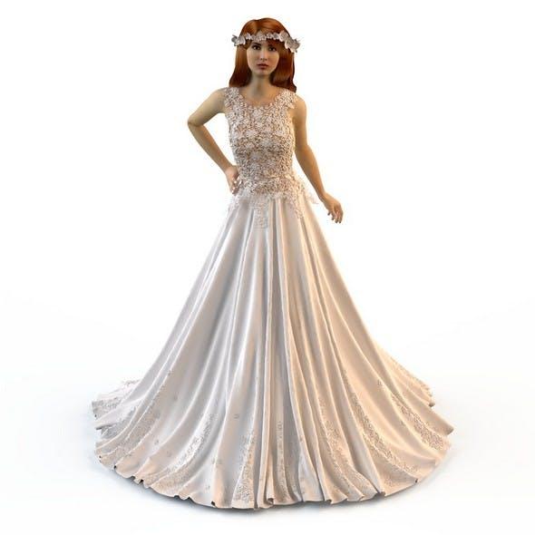 Wedding Evening dress Zuhair Murad 3 - 3DOcean Item for Sale