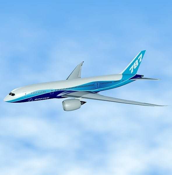 Boeing 787 civilian jet - 3DOcean Item for Sale
