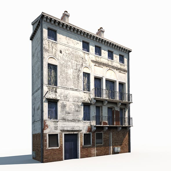 Apartment House 173 Low Poly - 3DOcean Item for Sale