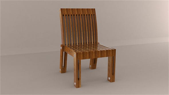 Chair from Wood - 3DOcean Item for Sale