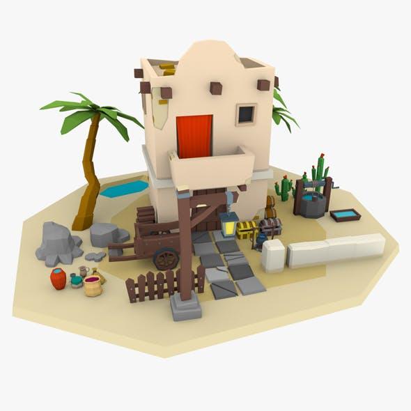 LowPoly Desert Building - 3DOcean Item for Sale