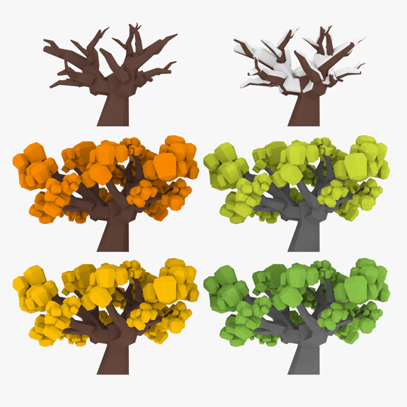 LowPoly Tree04