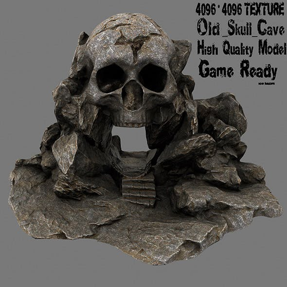 skull cave 3 - 3DOcean Item for Sale