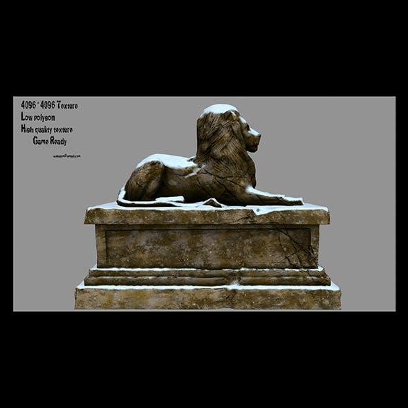 Lion Statue 1 - 3DOcean Item for Sale