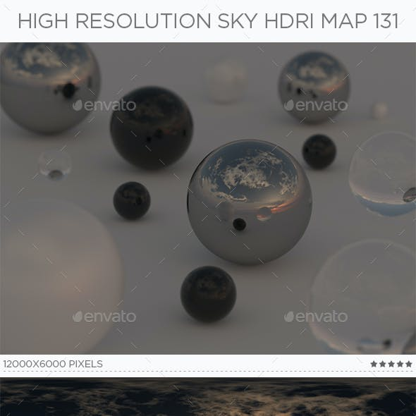 High Resolution Sky HDRi Map 131