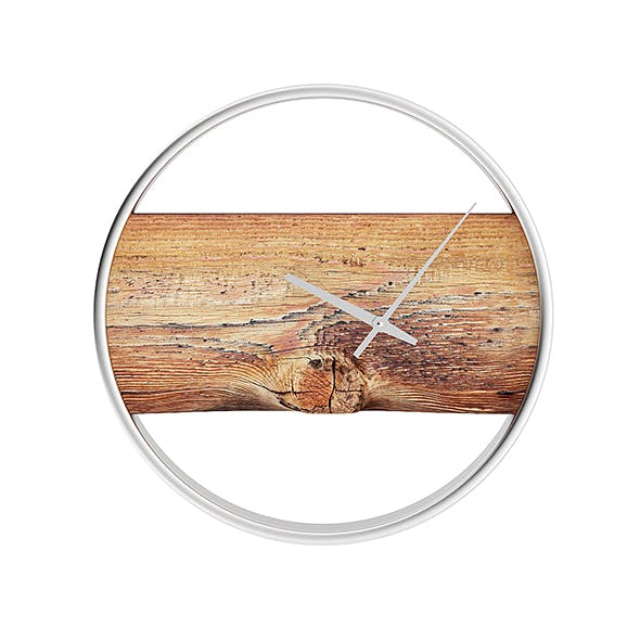 Wall Clock with Rough Wood - 3DOcean Item for Sale