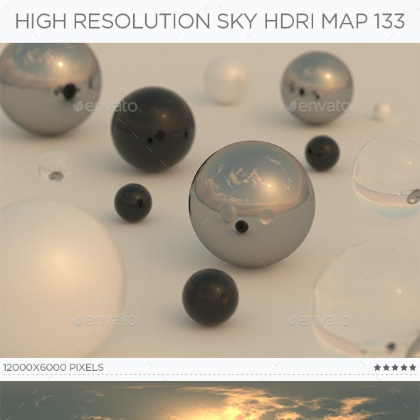 High Resolution Sky HDRi Map 133