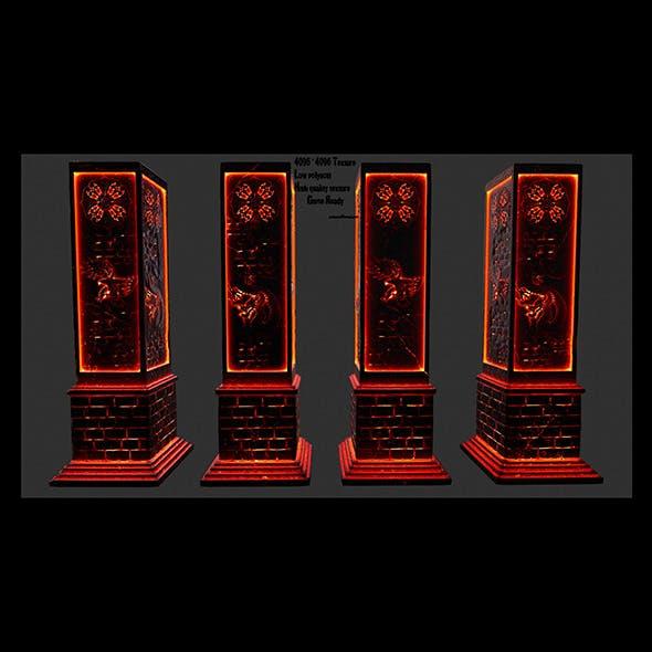 lava pillar - 3DOcean Item for Sale
