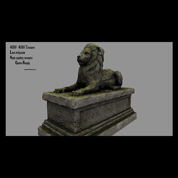 Lion Statue 2 - 3DOcean Item for Sale