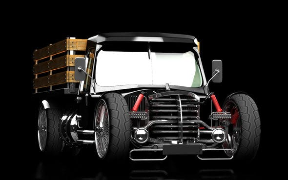 hot rod truck - 3DOcean Item for Sale