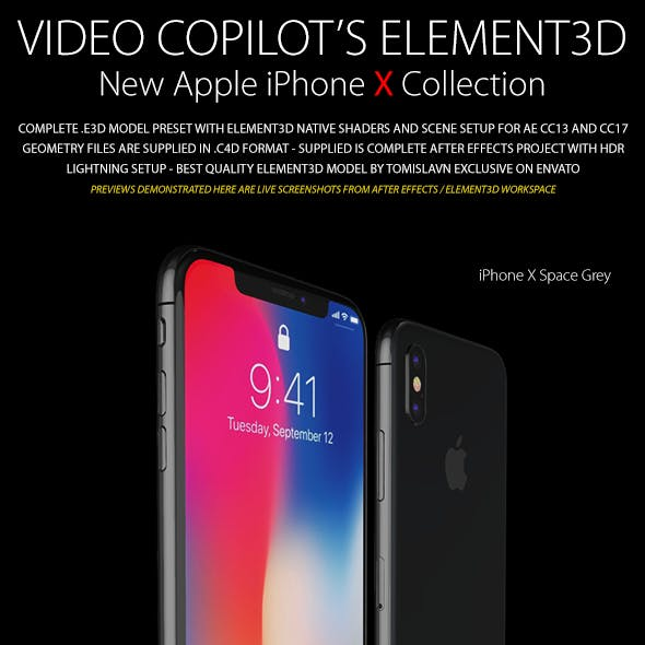 Element3D - iPhone X Collection
