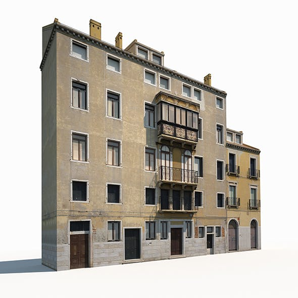 Building Facade 175 Low Poly - 3DOcean Item for Sale
