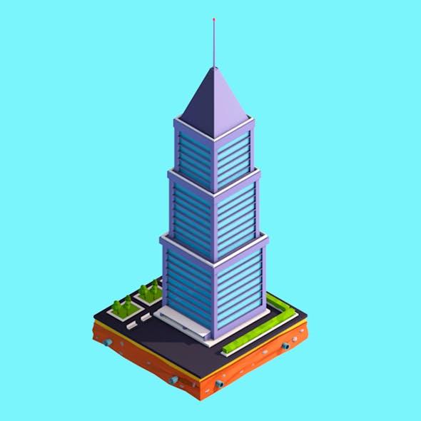 Cartoon Low Poly  Skyscraper