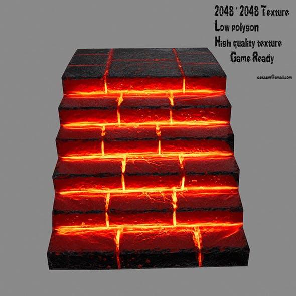 lava stairway - 3DOcean Item for Sale