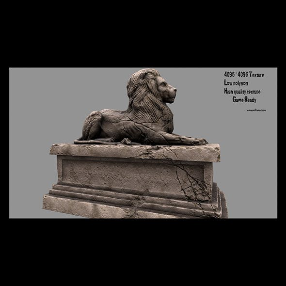 Lion Statue 3 - 3DOcean Item for Sale
