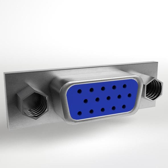 VGA Female Connector 1 - 3DOcean Item for Sale