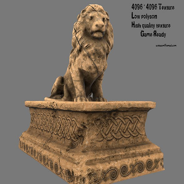 Lion Statue 6 - 3DOcean Item for Sale