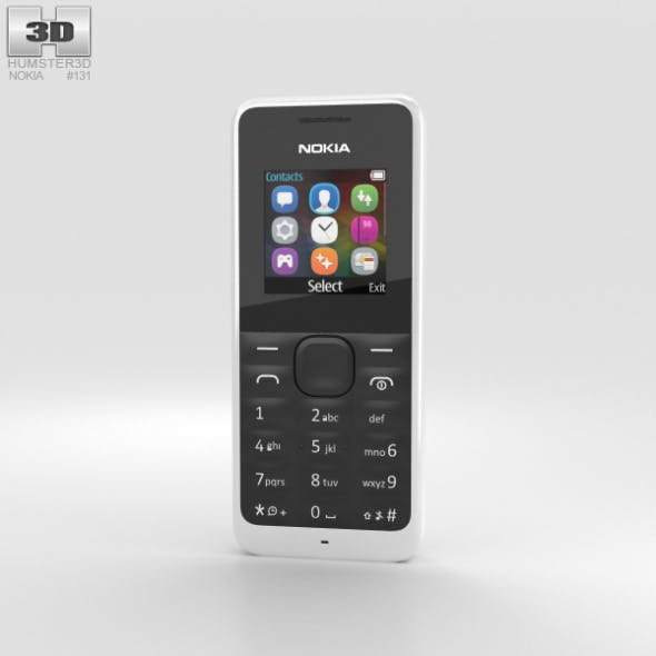 Nokia 105 White - 3DOcean Item for Sale