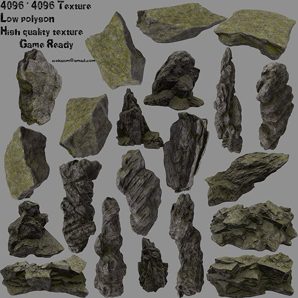 forest rock - 3DOcean Item for Sale