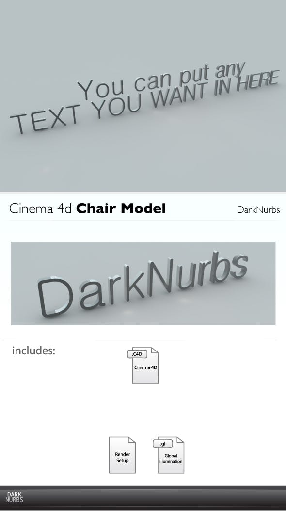 Cinema 4d Your Own Text - 3DOcean Item for Sale