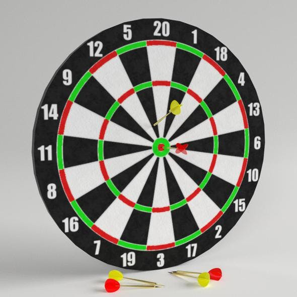 Darts with Target 1 - 3DOcean Item for Sale