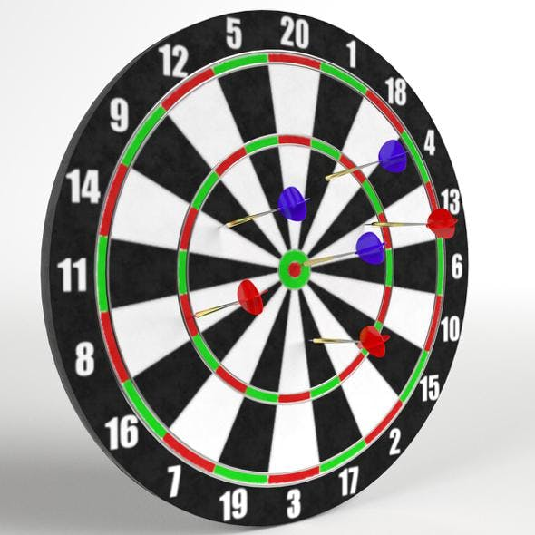 Darts with Target 2 - 3DOcean Item for Sale