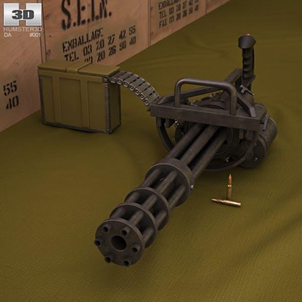 M134 Minigun - 3DOcean Item for Sale