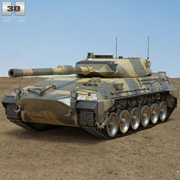 Tanque Argentino Mediano - 3DOcean Item for Sale