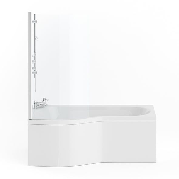 Bathtube with a Shower Glass