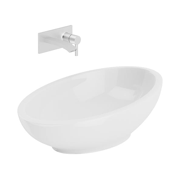 Modern Round Washbasin - 3DOcean Item for Sale