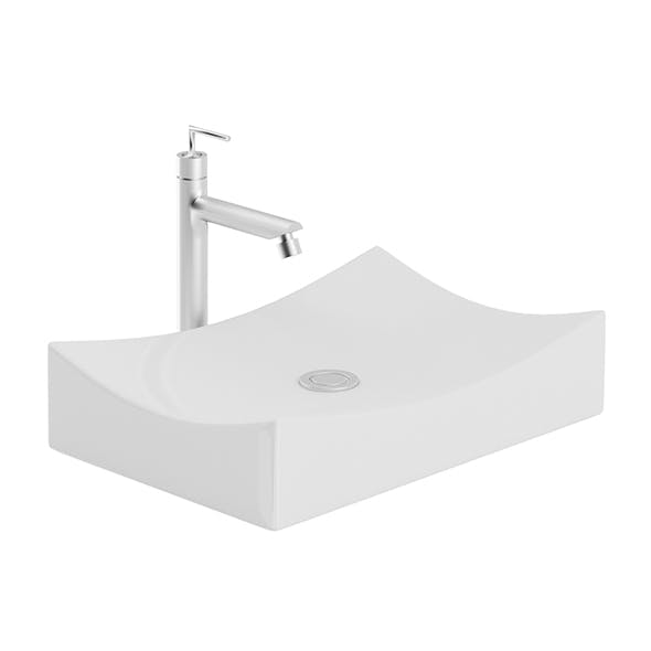 Modern Rectangular Washbasin - 3DOcean Item for Sale