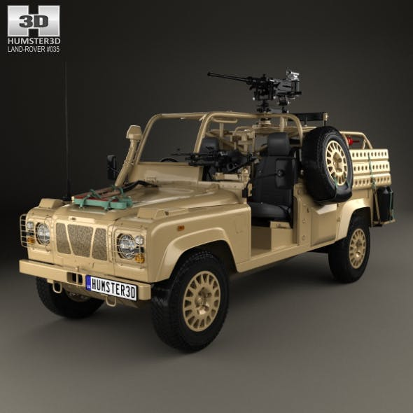 Land Rover Defender RWMIK with HQ interior 2014 - 3DOcean Item for Sale