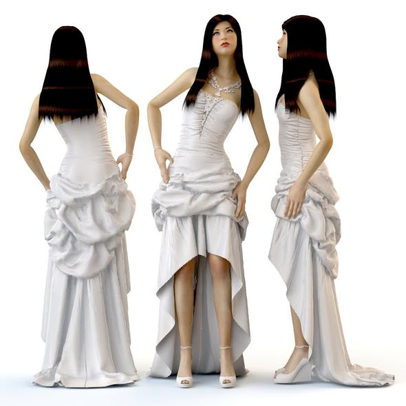 Women in dresses wedding evening