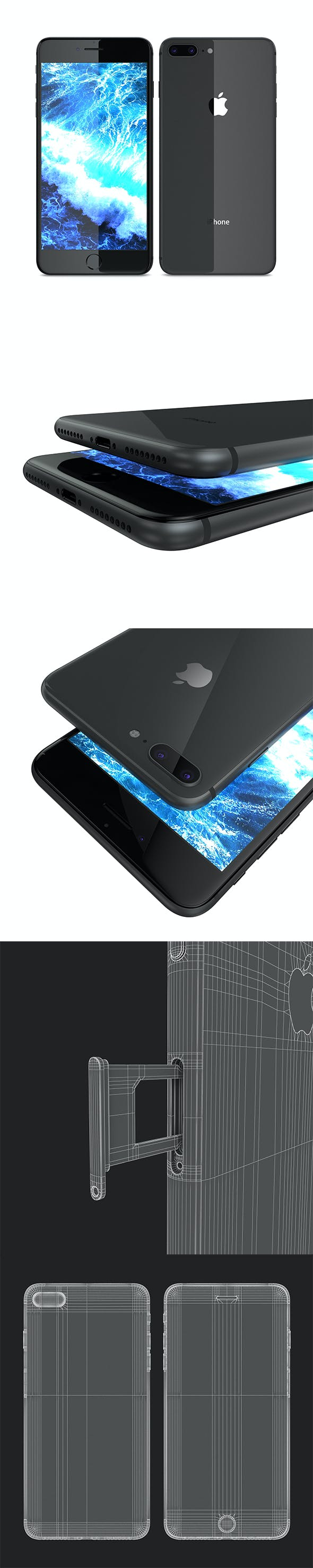 Apple iPhone 8 Plus Space Gray - 3DOcean Item for Sale