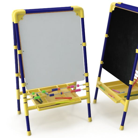 Childrens drawing board - 3DOcean Item for Sale