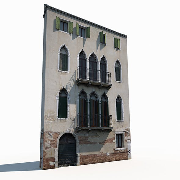 Building Facade 177 Low Poly - 3DOcean Item for Sale