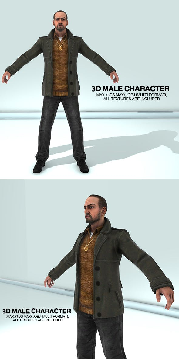 3D Male Character - 3DOcean Item for Sale