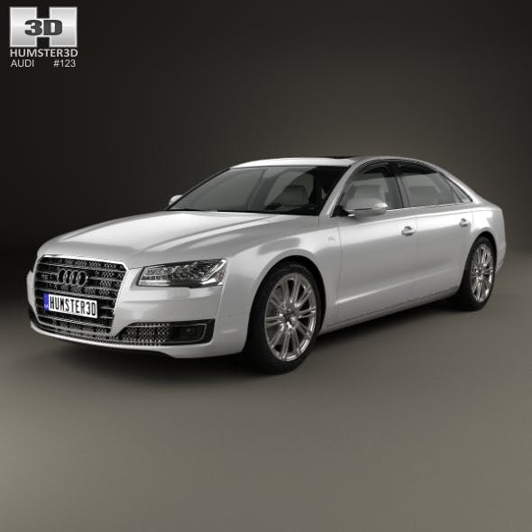 Audi A8 L with HQ interior 2014 - 3DOcean Item for Sale