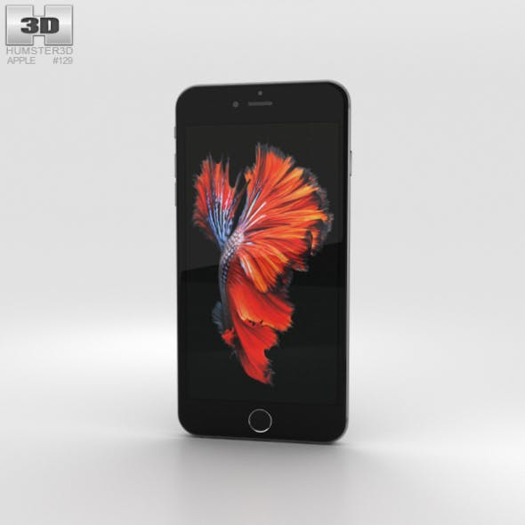 Apple iPhone 6s Plus Space Gray - 3DOcean Item for Sale