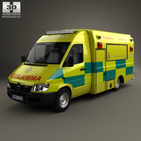 Mercedes-Benz Sprinter (W903) Ambulance 2000 - 3DOcean Item for Sale