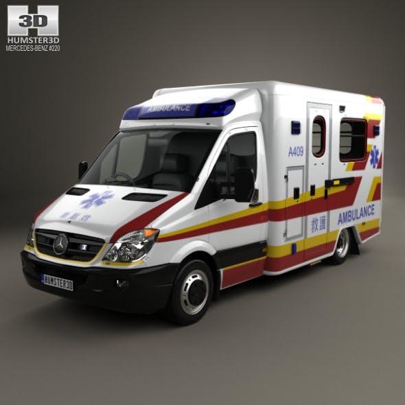 Mercedes-Benz Sprinter (W906) Ambulance 2011 - 3DOcean Item for Sale