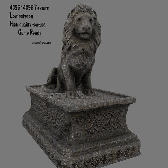 Lion Statue 10 - 3DOcean Item for Sale