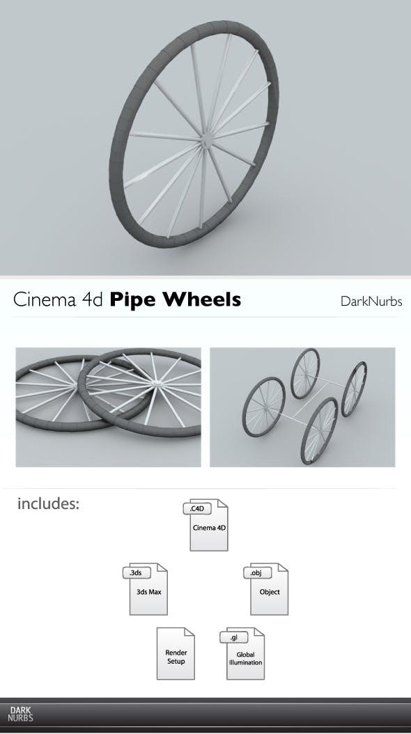 Cinema 4d Pipe Wheel - 3DOcean Item for Sale