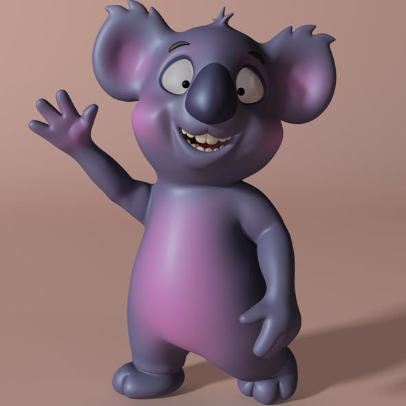 Cartoon koala RIGGED and ANIMATED